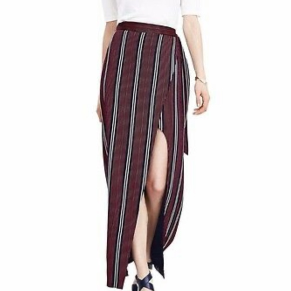 Banana Republic Dresses & Skirts - Banana Republic Stripe Wrap Side Slit Maxi Skirt—4